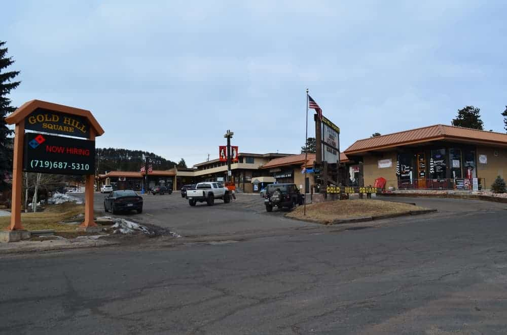 The Gold Hill Square has a small movie theater and a shopping center, along with some restaurants and stores. It is set on a great location.