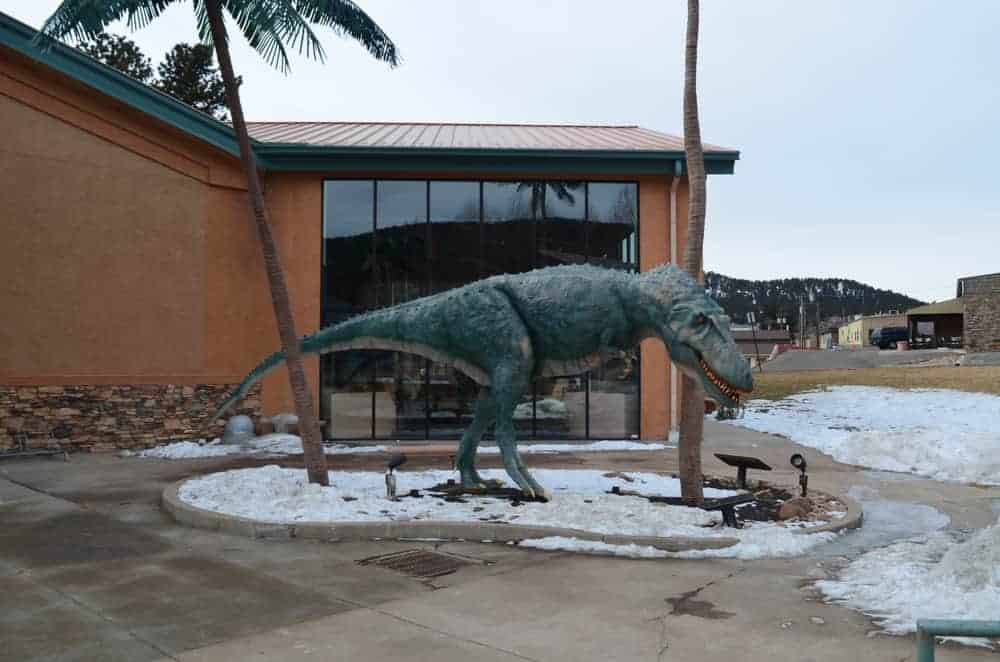 The famous Dinosaur Resource Center has two giant dinosaur statues, one of which is this statue with a horrifying look. The kids love the dinosaurs though.