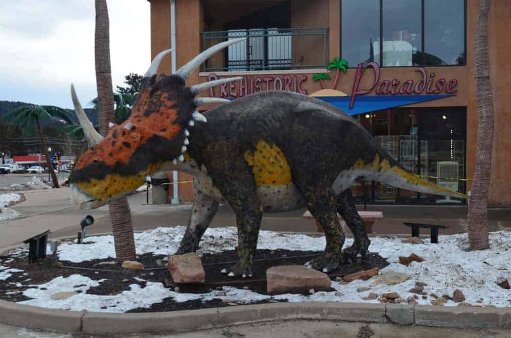 Here's the other dinosaur of the Dinosaur Resource Center where kids can enjoy walking around.