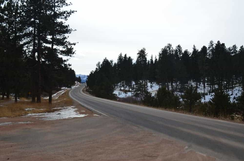 This look boasts the breathtaking surroundings of the town, shot taken from Highway 67.