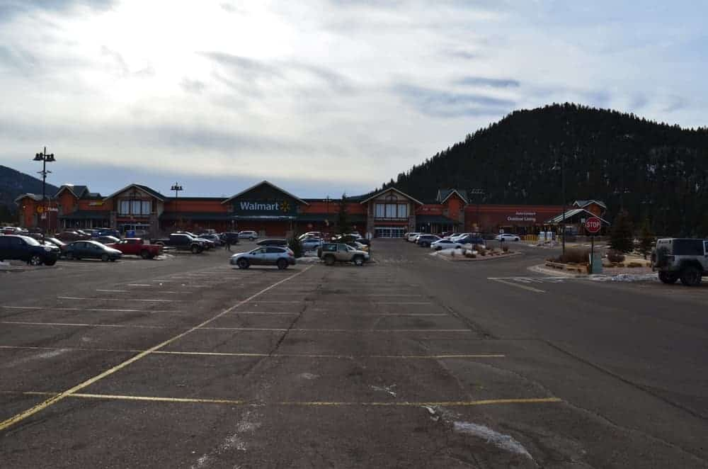 There's a Walmart near the Woodland Park and it is huge as usual. It has a large parking space as well.