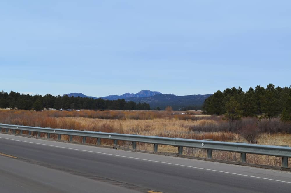 A look from Highway 67 towards Manitou Lake. The lake is usually frozen during the peak of winter.