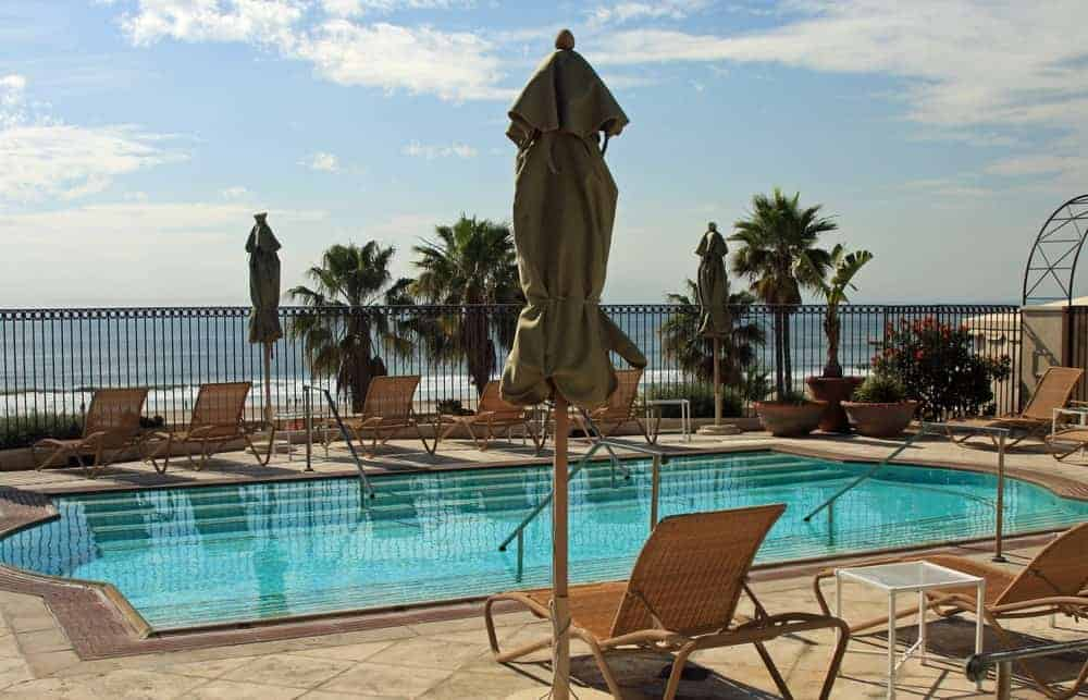 Poolside view of the Casa Monica Resort.