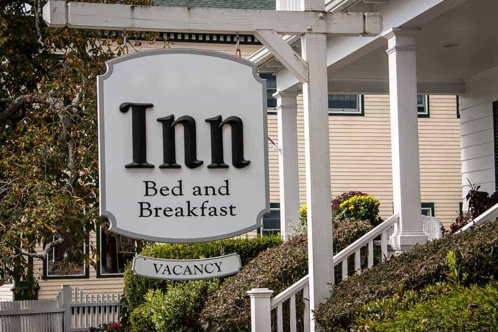 Signage of an Inn Bed and Breakfsat.