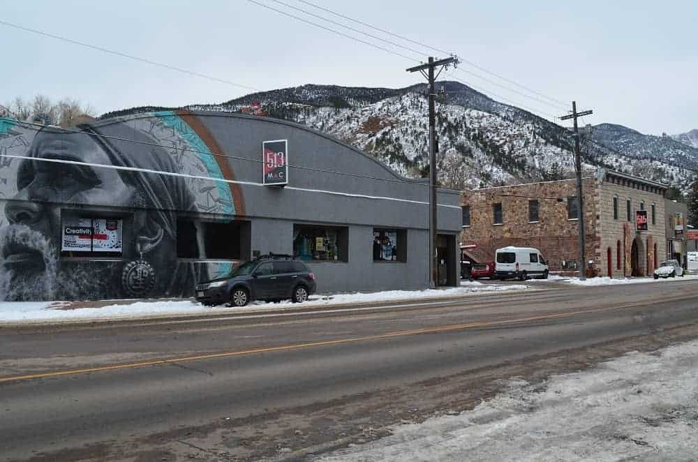 An art gallery center in Manitou, Springs, CO.