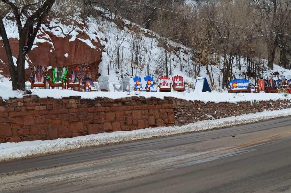 Colorado Ski Chairs along Manitou Ave.