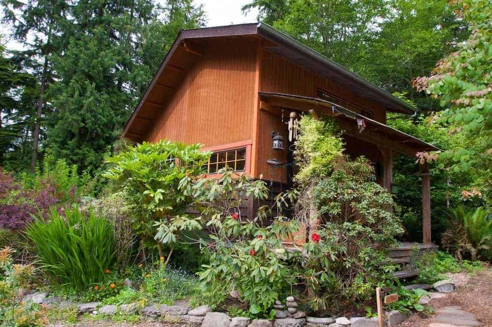 A cottage in the forest for rent in Whidbey Island.