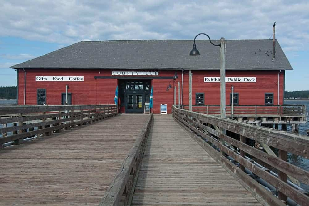 A look at the main entrance of Coupeville Wharf.