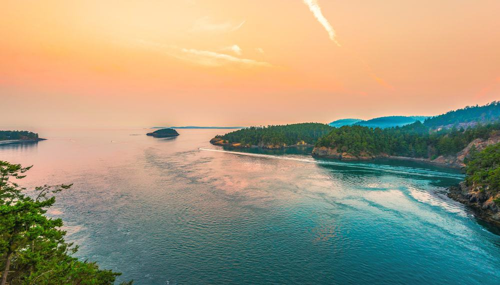 One of the views of Deception Pass State Park.
