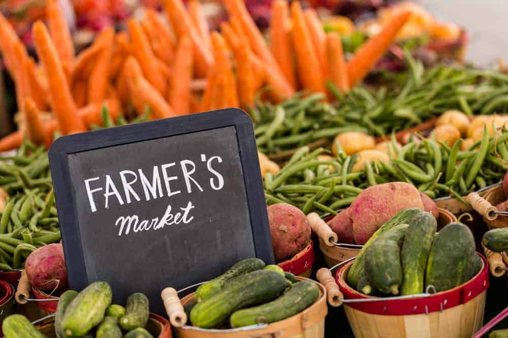 A look at the vegetables on display at the Farmer's Market.