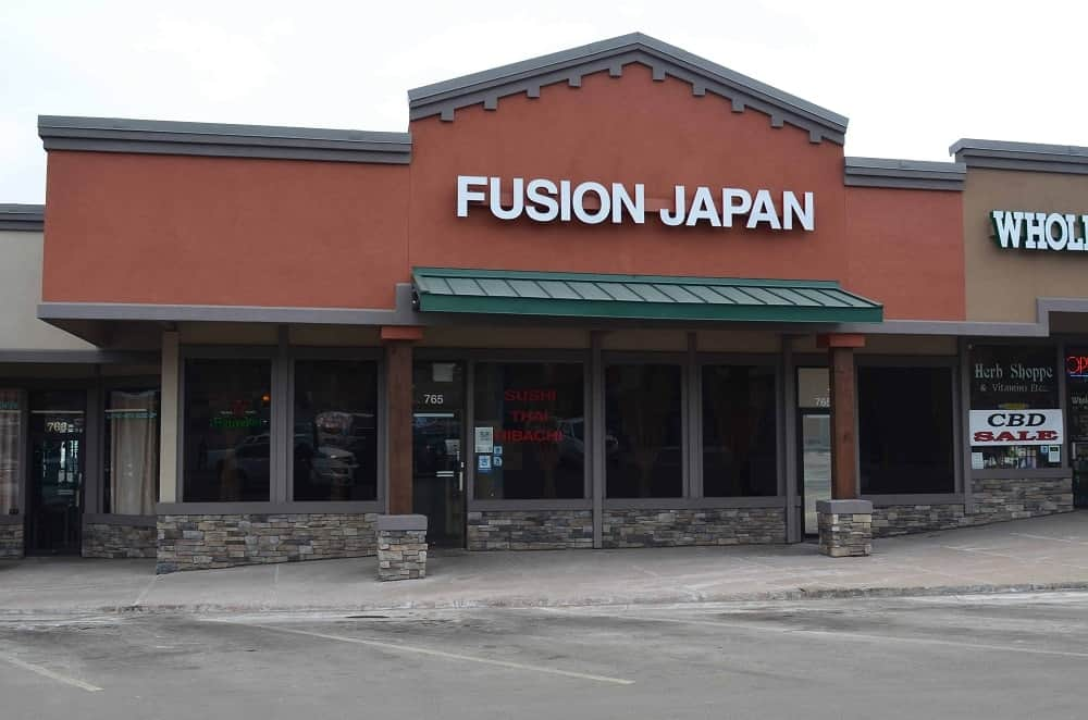 If you happen to crave for fresh sushi in Colorado, you can find the Fusion Japan in the strip mall on the north end of downtown Woodland Park.