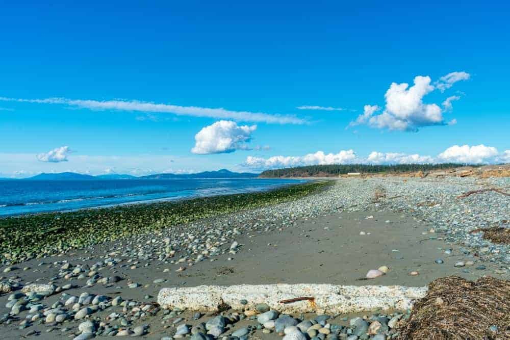 A look at the beach of Joseph Whidbey State Park.