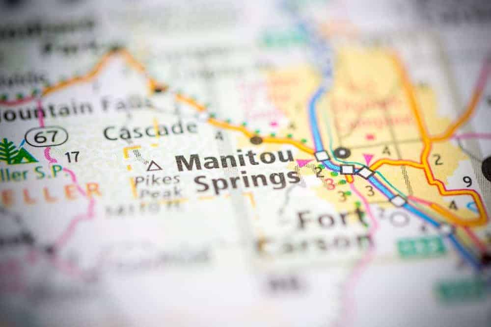 Map of Manitou Springs.