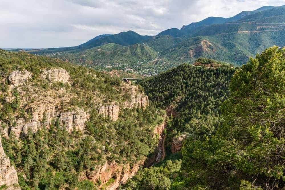 View from the Williams Canyon Trail and Waldo Canyon Loop Trail.