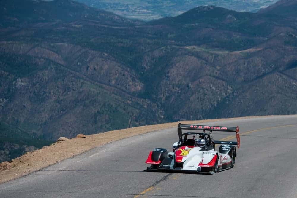 A racecar at the Race to the Clouds.