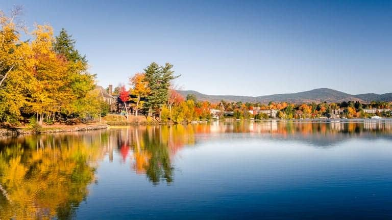 A view of Lake Placid.