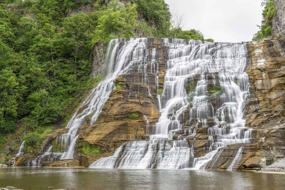 A scenic view of Ithaca Falls.