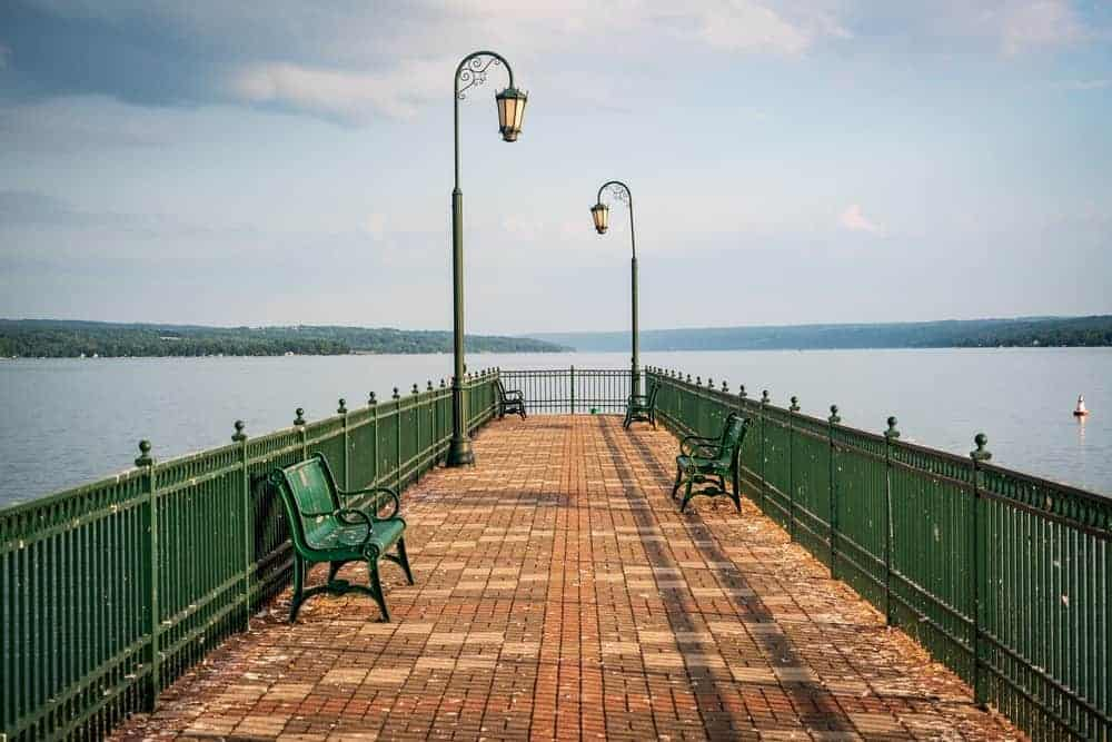 A scenic view of the Skaneateles.