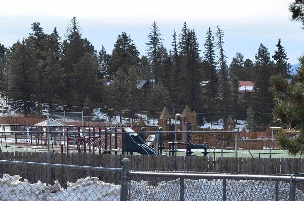A view of the playground of Gateway Elementary School.