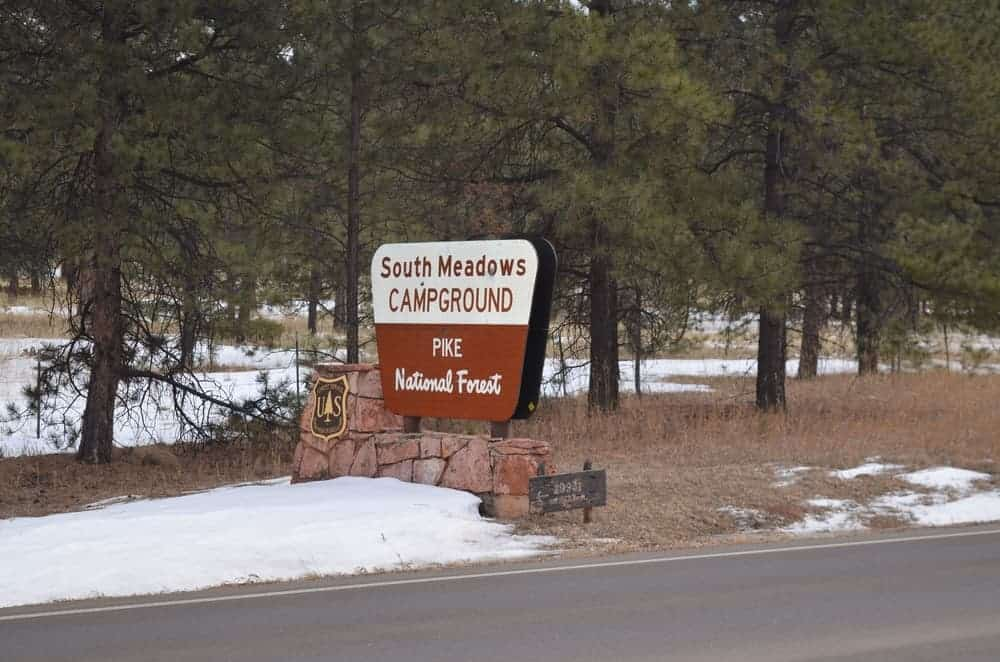South Meadows Campground is also located within Pike National Forest with great atmosphere and summer temperatures.