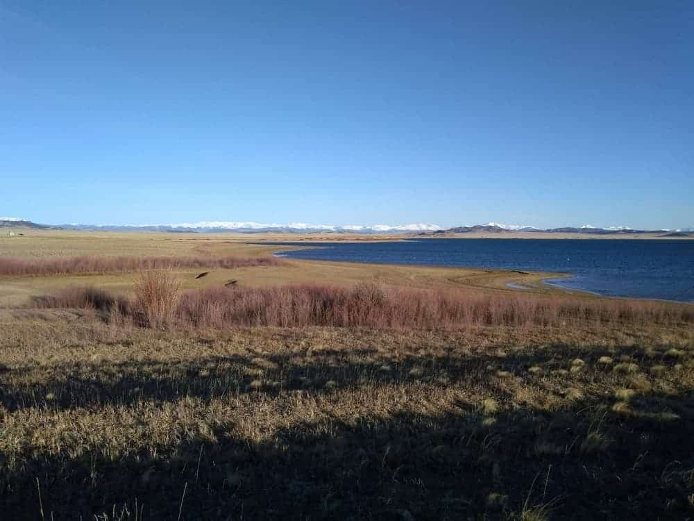 One of the views of Spinney Reservoir.