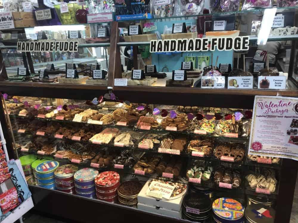 Display of sweets on Sugar Shack.