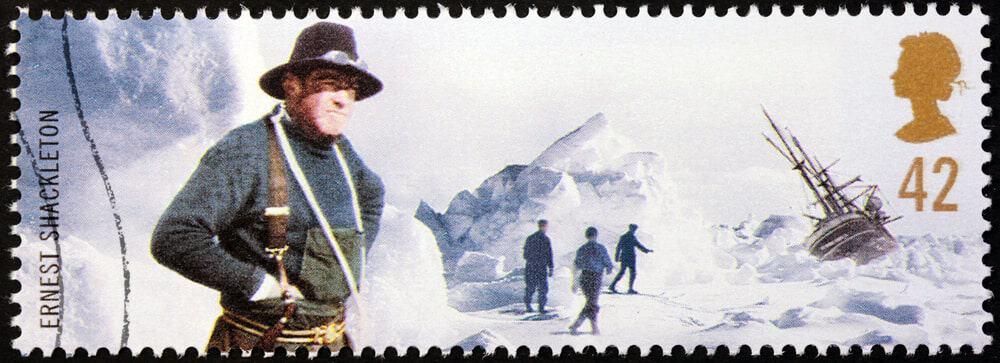 The Sir Ernest Shackleton stamp.