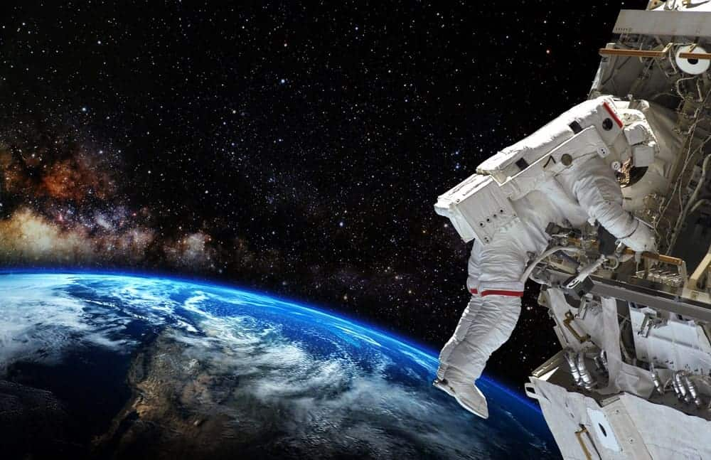 An astronaut on a space mission.