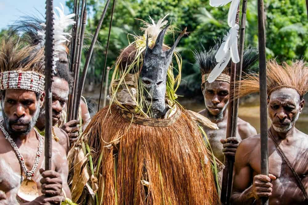 Members of a cannibal tribe.