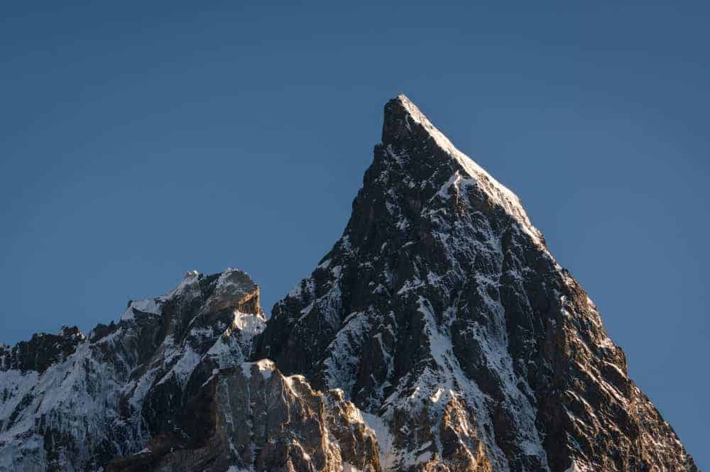 A view of the K2 peak in Pakistan.