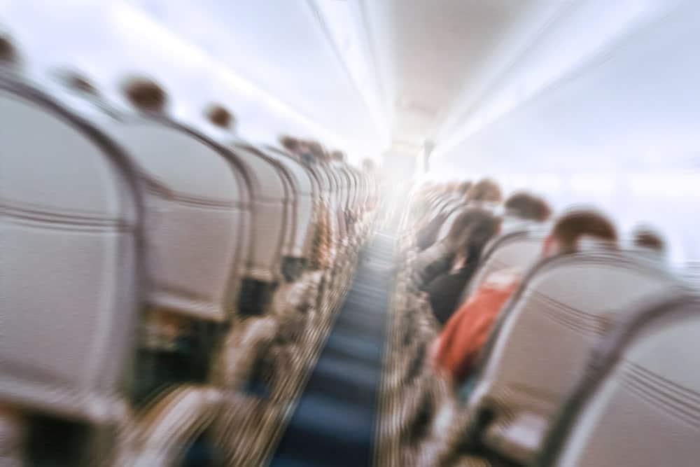 Turbulence inside the airplane.