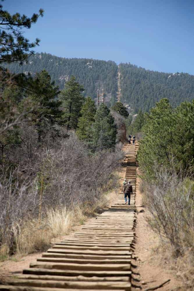 Trekking the Manitou Incline.