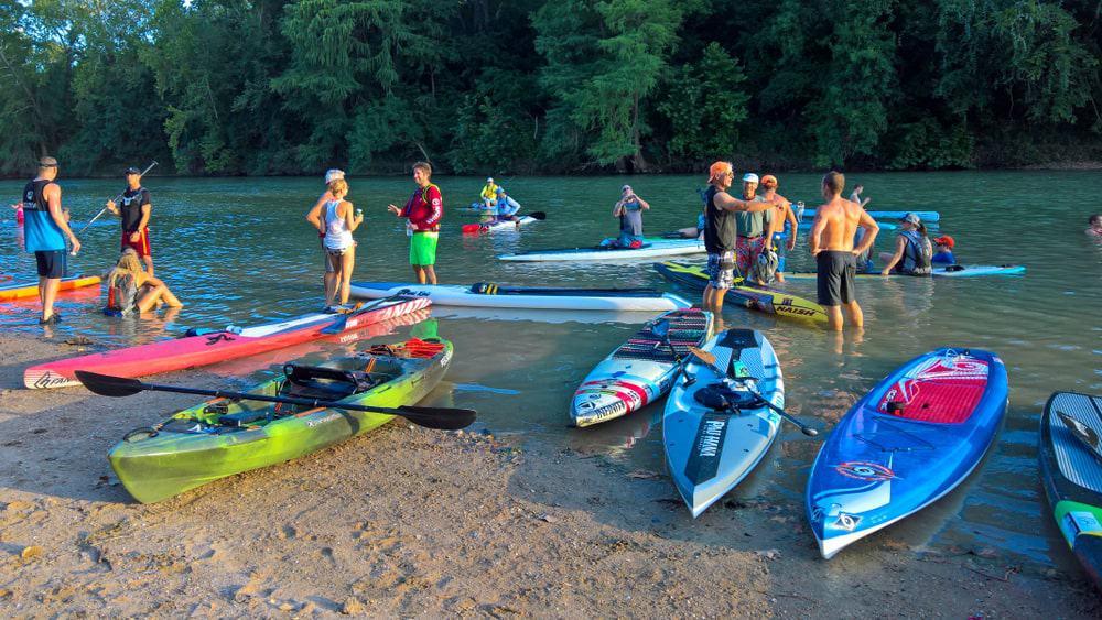 Kayakers at Colorado River.