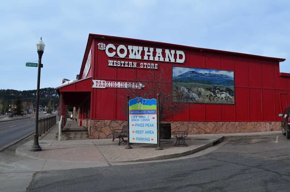 A view of the Cowhand storefront.