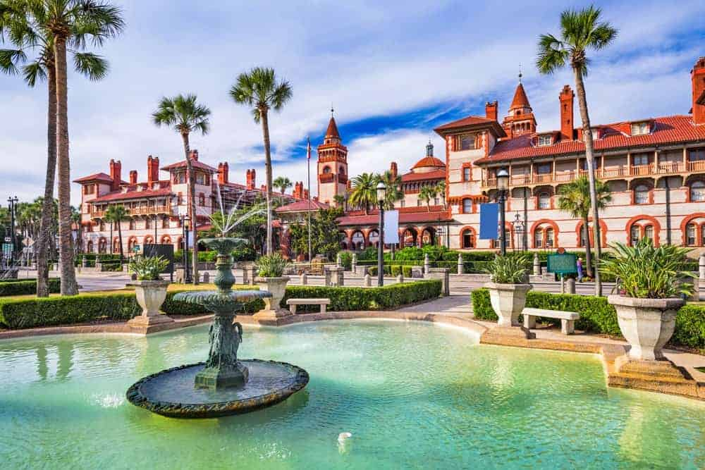 As you enter St. Augustine, you'll quickly notice the name Henry Flagler. There are lots of buildings and places named after the 19th century real estate genius, one of them is the Flagler College shown in this photo.