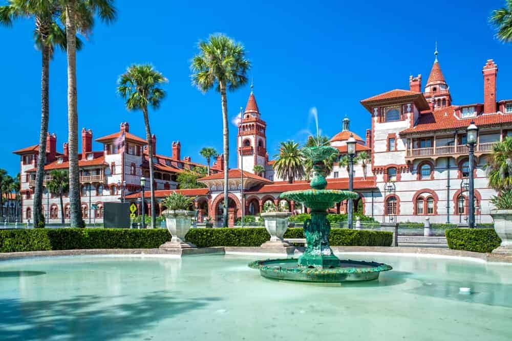 As you enter St. Augustine, you'll quickly notice the name Henry Flagler. There are lots of buildings and places named after the 19th century real estate genius, one of them is the Flagler College shown in this photo above.