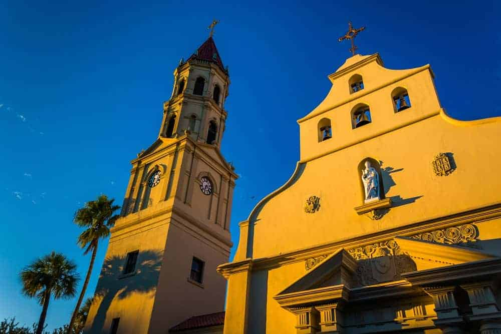 The Cathedral Basilica of St. Augustine is the oldest catholic church in the city. It boasts beautiful murals, which tell the history of the catholic church. It is a very popular destination in St. Augustine.