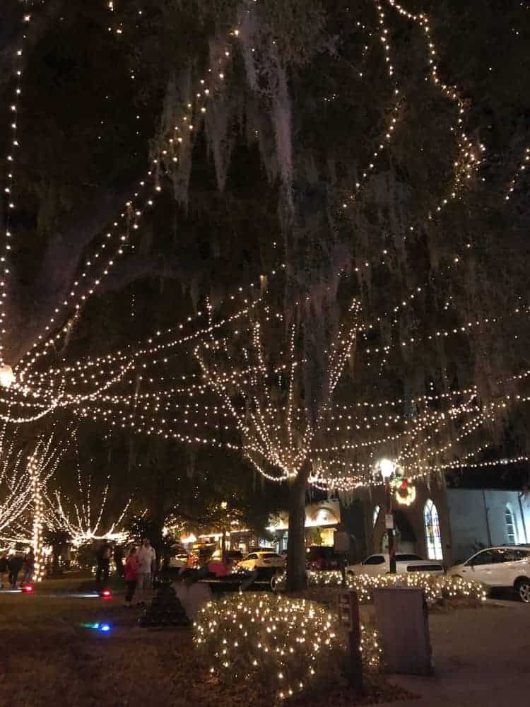 The nights of lights of St. Augustine is one of the best light displays in the world. It is recognized by National Geographic as one of the top 10 light shows around the globe.