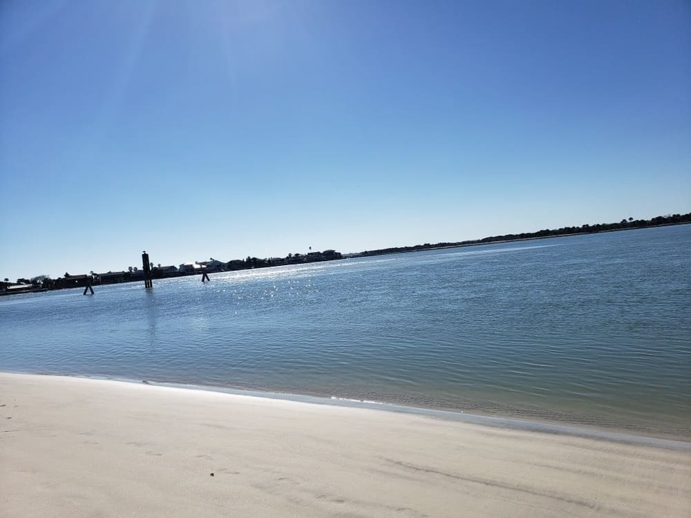 Located between Flagler Beach and St. Augustine Beach, this inlet is where the Matanzas Estuary and Atlantic Ocean meets. Here's a look of the calm beach.