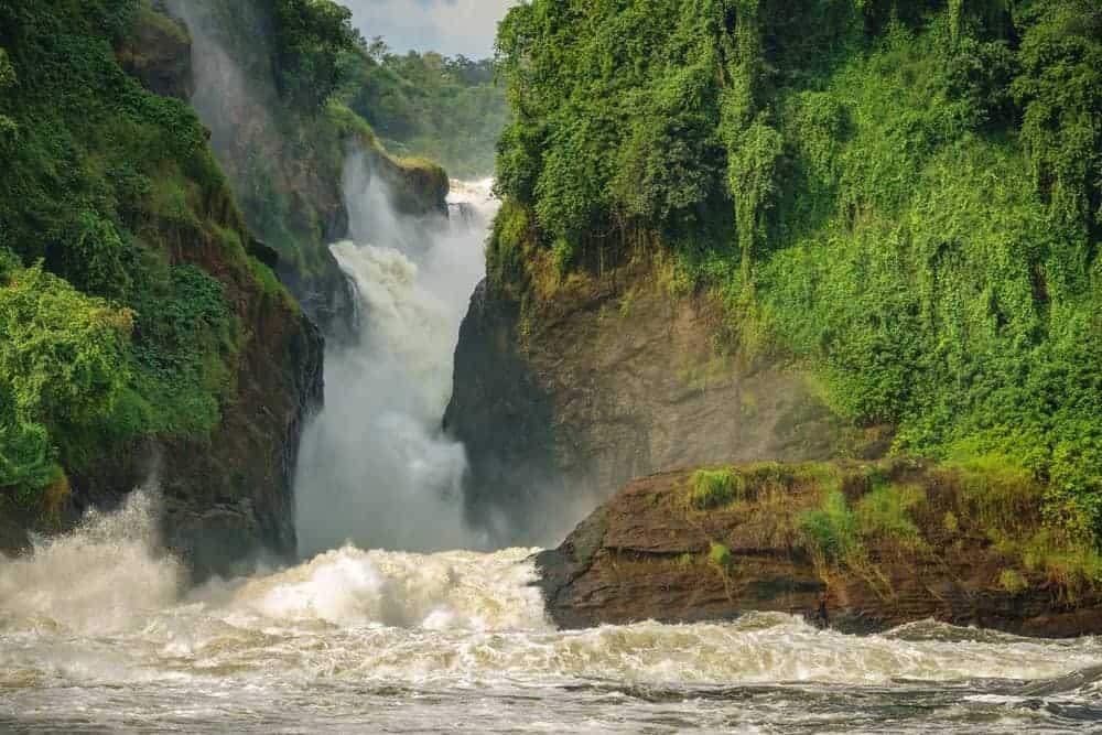 A view of the Murchison chute waterfall.