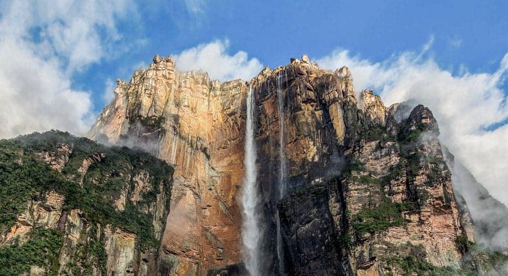 A view of Angel Falls in Venezuela.