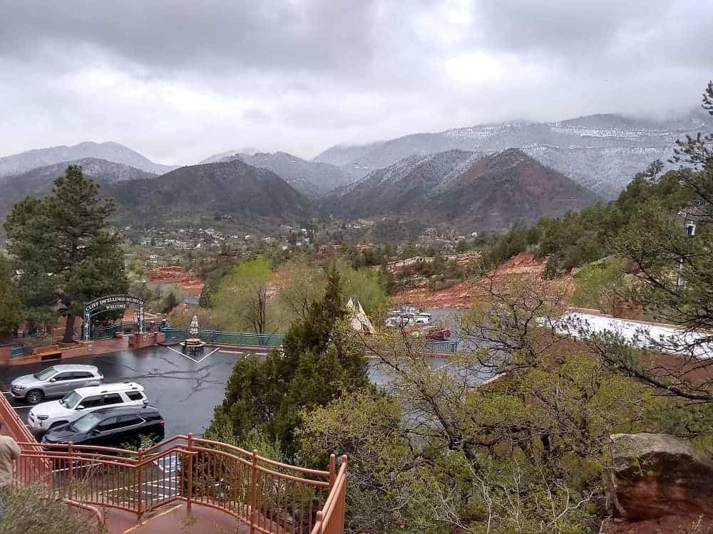 View from the Manitou Cliff Dwellings Museum