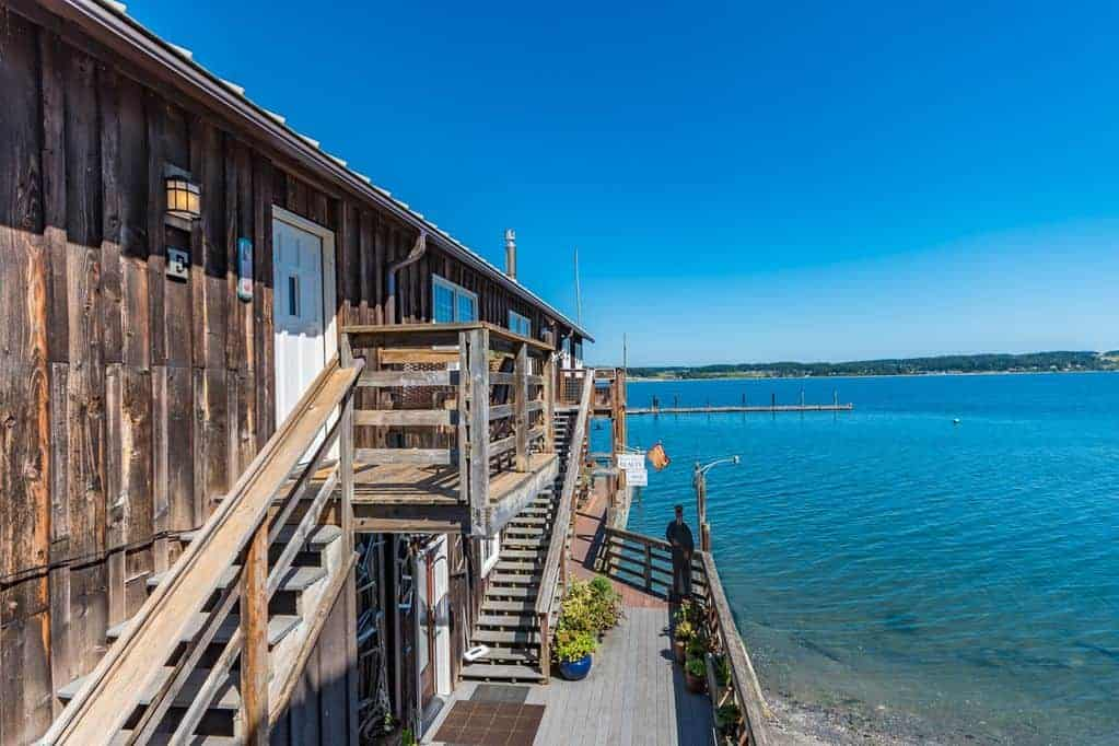 A waterfront view of the house for rent in Whidbey Island.