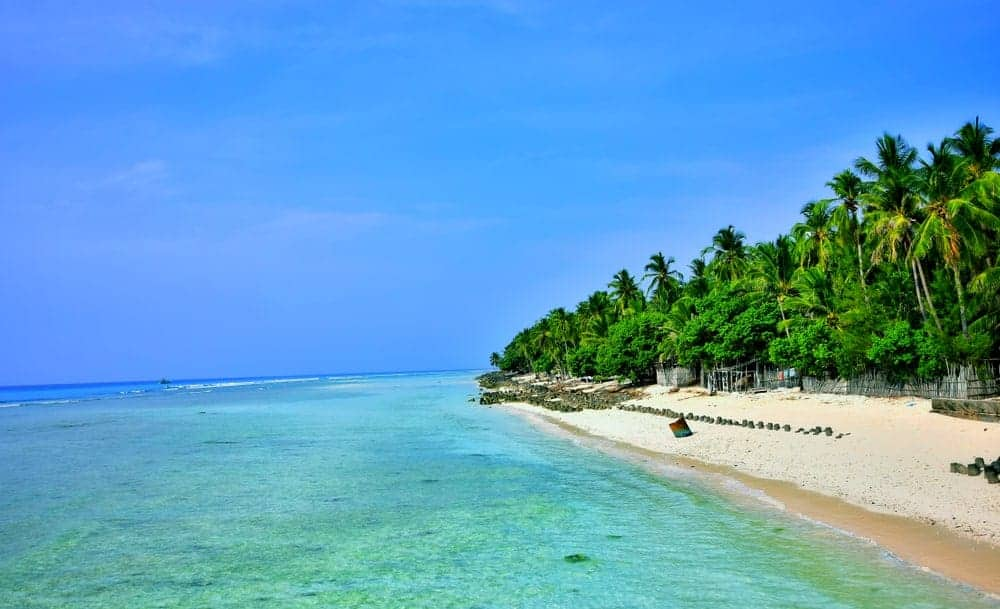 A view of the beach in Lakshadweep Islands, India.