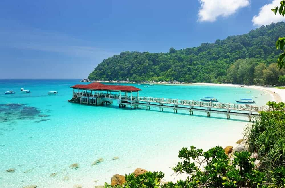 A view of the beach in Perhentian Islands.