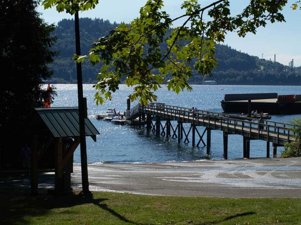 The boat launch at Cates Park in North Vancouver, BC.