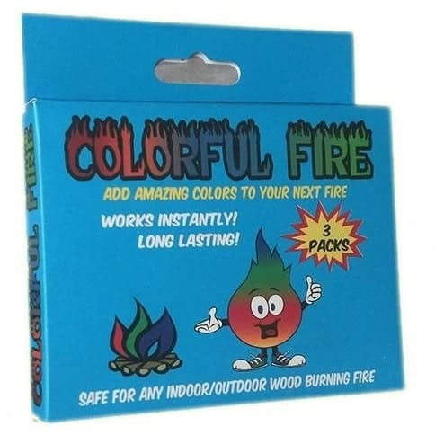 The Colorful Fire brand fire colorant.