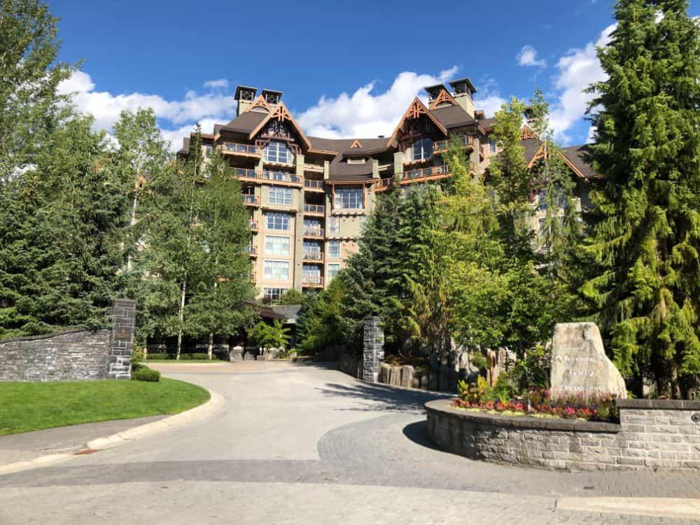 Entrance to the Four Seasons Resort Whistler