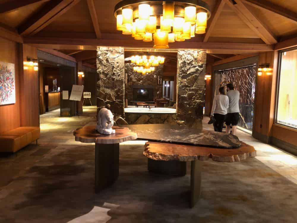 the lobby in the Four Seasons Resort Whistler