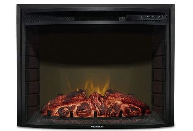 The Furrion electric fireplace.